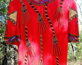 Bengala - a Vintage Beaded Silk Blouse from India