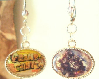 Vintage Charm Earrings on Sterling Silver - Road Trip