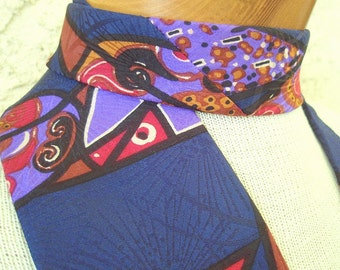 Modern Art - vintage Italian Silk Neck Tie