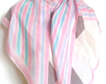 Candied Stripes - a rare, vintage 1960's Vera Neumann Verasheer Silk Scarf - 30 inches