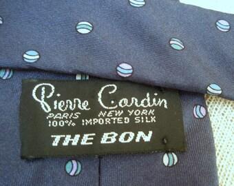 Pierre Cardin Vintage 1960's Imported Silk Necktie