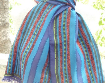 Tuscan Summer - a rare, vintage 1970's Vera Neumann scarf - made in Italy