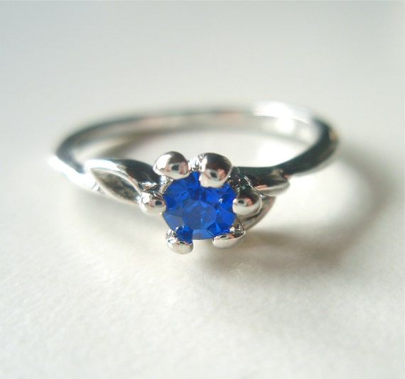 Little Sapphire Crystal Vintage Ring