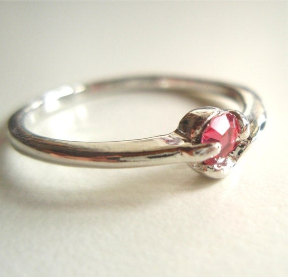 Little Pink Crystal Vintage Ring