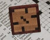 Crossword Lapel Pin\/Brooch