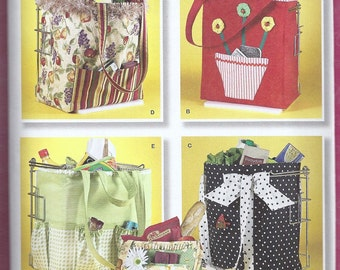 Shopping Bag Pattern Tote Bag  Fits in Grocery Store Bag Stand Simplicity 2352  NEW