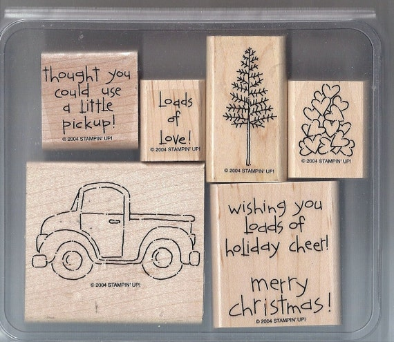 Stampin Up Rubber Stamp Sets Loads Of Love And Accessories