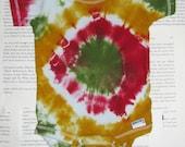Reclaimed Tie Dye Onesie Size 0-3 Months Rastafarian