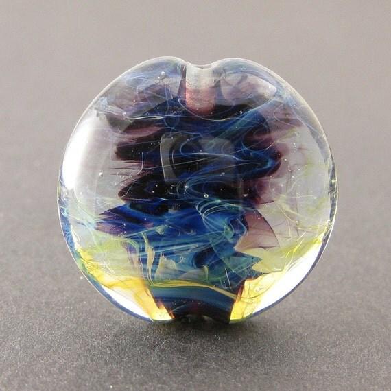 Indigo, Lampwork Glass Focal Bead