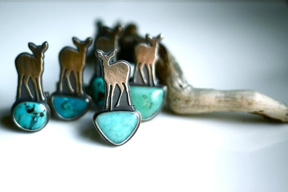 SALE -- Psalm 42 Ring -- Turquoise