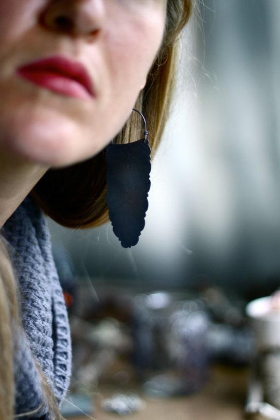Black Lichen Earrings