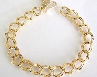 Gold Charm Bracelet - 14k Gold Filled - Wear Plain Or Add Charms