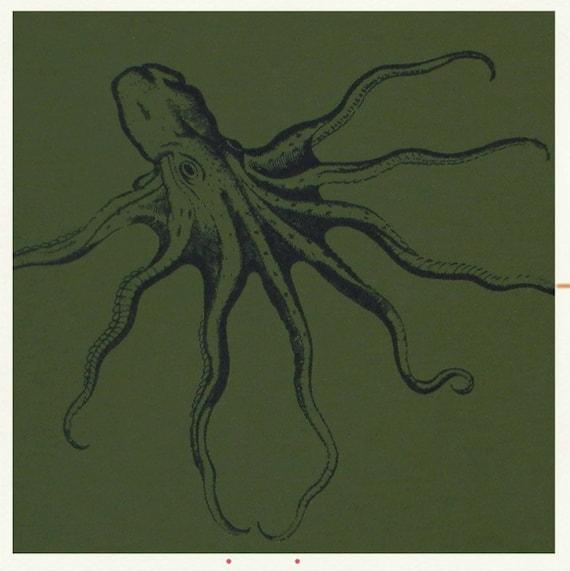 Unisex size Medium Octopus Specimen 002 essential monsters sea monster tee