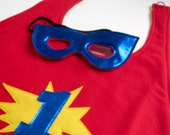 Super Hero Cape and Mask - Red Number 1 (WOW020212-3)