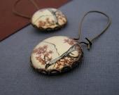 Nature inspired charm earrings