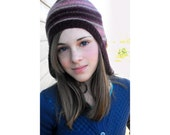 Snowbunny Hat - Pink, Plum, and Khaki
