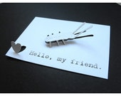 Whisper Notes Pop-up Card - Hello, my friend