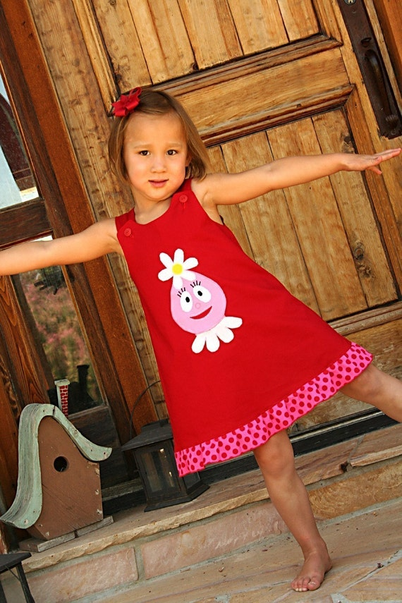 Yo Gabba Gabba Foofa Jumper Dress