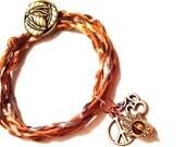 Hamsa Peace Leather Wrap Bracelet Lucky Charms Yoga FREE SHIP USA