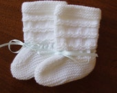 Reserved for lorilorenz, please do not purchase. Baptism Booties - 3-6 months