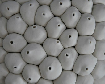 Java - Ceramic Micro Tile - Porcelain Ceramic Wall Sculpture