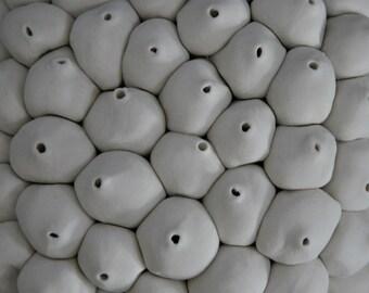 Java - Ceramic Micro Tile - Porcelain Ceramic Wall Sculpture