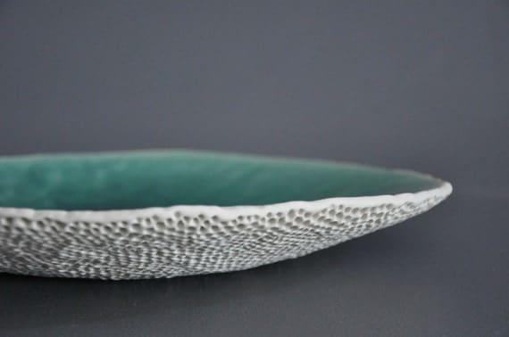 """SALE:  Porcelain """"Thistle"""" Platter/Centerpiece"""