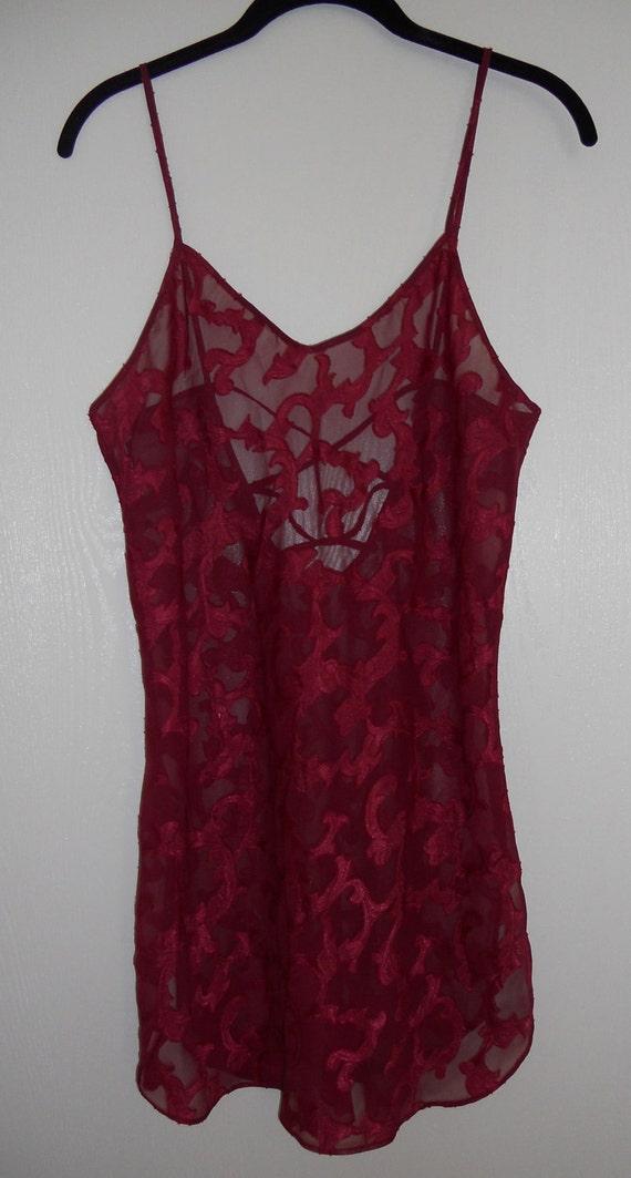 Vintage sheer floral slip lingerie 80s 90s grunge