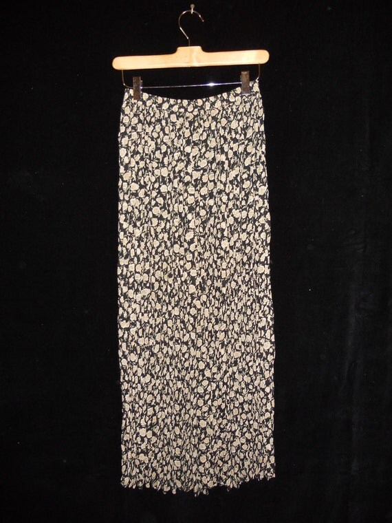 Vintage long floral sheer skirt Campagnie Internationale Express  xs-s-m