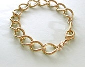 Chunky Curb Chain Gold Bracelet