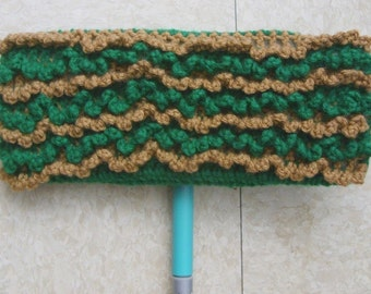 Green and Beige Swiffer Cloth - Green and Beige Floor Dusting Cloth - Two Sided Swiffer Cloth - Two Sided Floor Dusting Cloth