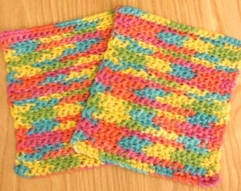 Custom Crocheted Wash Cloth Listing in Your Choice of Colors - Let me help you color coordinate your bathroom or kitchen or gift basket