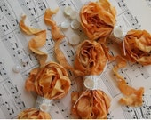 NEW COLOR Cabbage Roses Ribbon SUMMER LILY