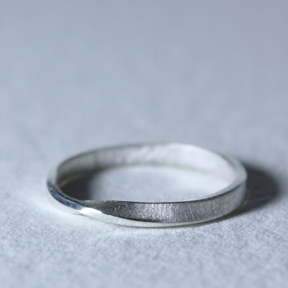 Sterling Silver Mobius Eternity Ring