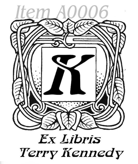 Personalized Ex Libris Bookplates Selection B