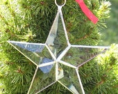 Star ornament clear beveled glass