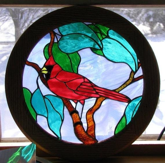 Cardinal framed  window panel