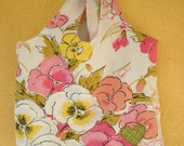 Pink Rose Garden Reusable Shopping Bag