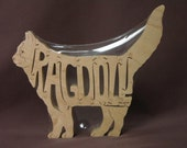 Ragdoll Cat  Puzzle Wooden Toy Hand Cut with Scroll Saw