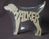 Walker Coonhound Hound Dog Puzzle Wooden Toy Hand Cut with Scroll Saw