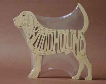 Bloodhound Dog Puzzle Wooden Toy Hand Cut with Scroll Saw