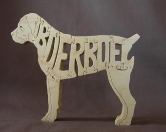 Boerboel Dog Puzzle Wooden Toy Hand Cut with Scroll Saw