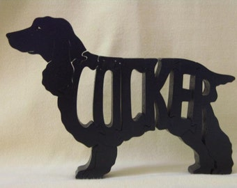 SALE Cocker Spaniel Dog Puzzle Wooden Toy Hand Cut with Scroll Saw