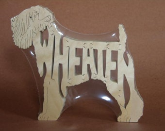 Wheaten Terrier Wooden Dog Toy Puzzle Hand Cut with Scroll Saw