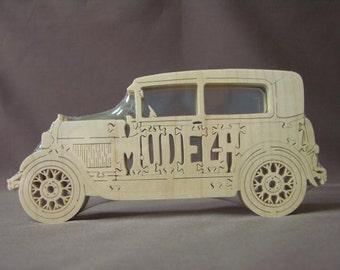 Model A Ford Antique Choice Sedan or Coupe  Car Toy Wooden Hand Cut Puzzle