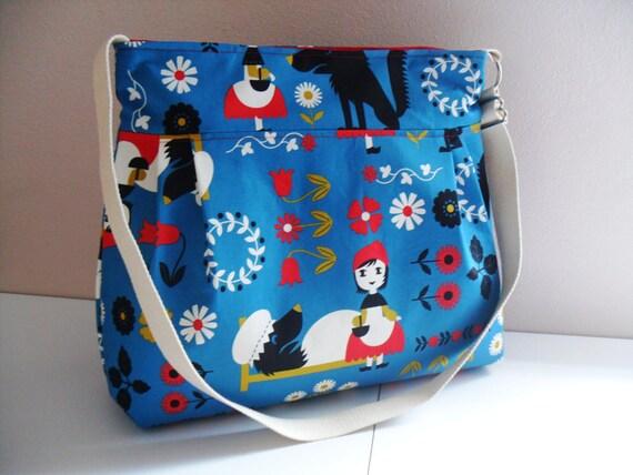 Handbag in Kokka Red Riding Hood Fabric