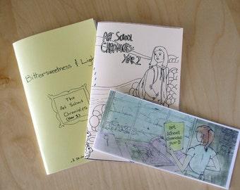 Art School Chronicles - set of three