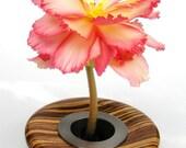 Turned Wood Flower Vase