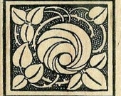 Medieval rose and thorns rubber stamp