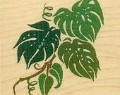 Jungle leaves rubber stamp